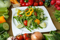Different vegetables and salad Royalty Free Stock Image