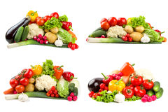 Different vegetables sets Stock Images