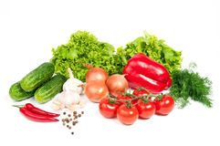 Different vegetables. On white background Royalty Free Stock Photo