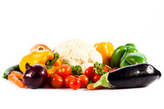 Different vegetables  on white background Royalty Free Stock Images