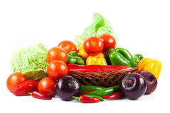 Different vegetables on white background Royalty Free Stock Photo