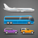 Different vehicles vector illustration Stock Photography