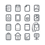 Different vertical Web icons set Stock Photography