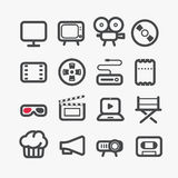 Different video industry icons set Stock Photography