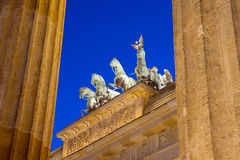 Different view of Berlins Brandenburger Tor Royalty Free Stock Photos