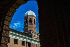 A different view of a Greco-Roman architecture buidling. stock photography
