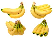 Different views of a banana bunch Royalty Free Stock Image