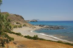 Different views of the coast of Greece stock photography
