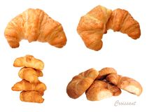 Different views of croissant Stock Images