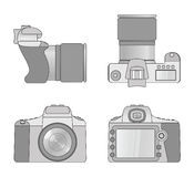 Different views of digital camera Royalty Free Stock Photo