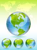 Different views of glass globe Stock Photo