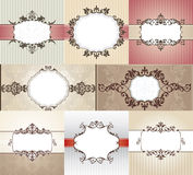 Different vintage frames Stock Photography
