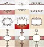 Different vintage frames Stock Images