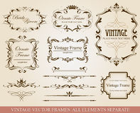 Different vintage frames Royalty Free Stock Photos