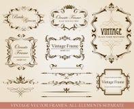 Different vintage frames vector illustration