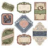 Different vintage labels Royalty Free Stock Images
