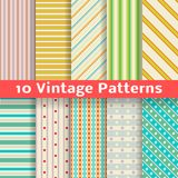 Different vintage stripe vector seamless patterns Stock Image