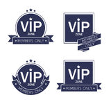 Different VIP badges labels set  Royalty Free Stock Photography