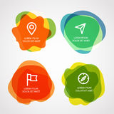 Different watercolor stamps with template text Royalty Free Stock Photo