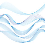 Different waves graphic Stock Image