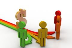 Different way for earning income Stock Image