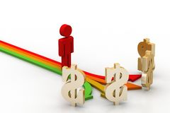 Different way for earning income Stock Photo