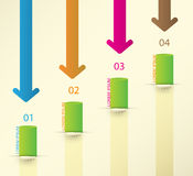 Different Way Infographics Set. Vector Royalty Free Stock Photos
