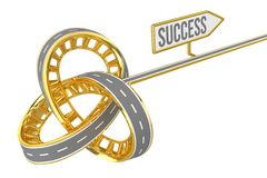 Different Way With SUCCESS Sign. Isolated on White or Transparent Background Royalty Free Stock Photography
