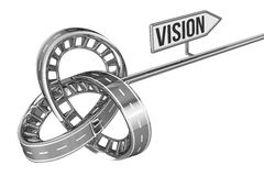 Different Way With VISION Sign Stock Photos