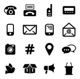 Different Ways Of Communication Icons Stock Image
