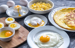 Different ways of cooking eggs Royalty Free Stock Photography