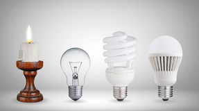 Different ways of illumination royalty free stock image