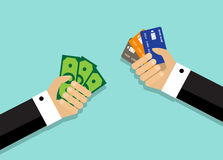 Different ways of payment of the purchase Stock Photo