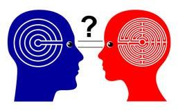 Different Ways of Thinking stock illustration