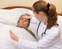 Body temperature check up Stock Photo
