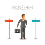 Different ways vector concept in flat cartoon style.  Stock Photography