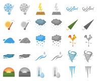 Different weather cartoon,monochrom icons in set collection for design.Signs and characteristics of the weather vector. Symbol stock illustration vector illustration