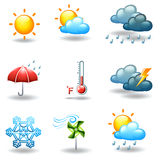 Different weather conditions Stock Photos