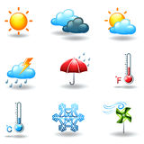 Different weather conditions Stock Images