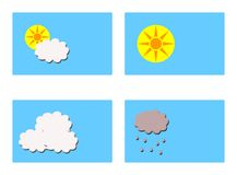 Different weathers symbols Stock Photos