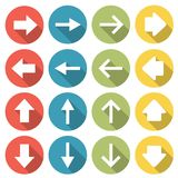 4 different web arrows icons Stock Photos