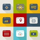 Different web browser icons Royalty Free Stock Image