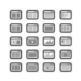 Different web browser icons set Stock Images