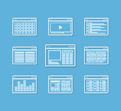 Different web browser icons set Royalty Free Stock Photo