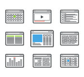 Different web browser icons set Stock Photography