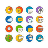 Different web browser icons set with rounded corners Stock Image