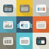 Different web browser icons set vintage style Royalty Free Stock Photo