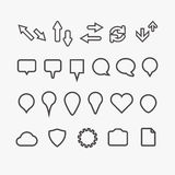 Different web icons collection Stock Photography