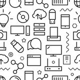 Different web icons seamless pattern Stock Image