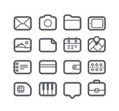 Different Web icons set. Isolated on white stock illustration